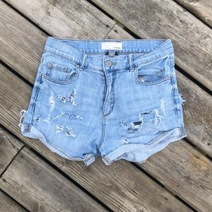 Garage High waisted Distressed Denim Shorts 5
